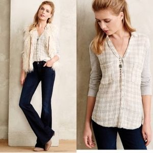 Anthropologie Holding Horses Forsby Plaid Button